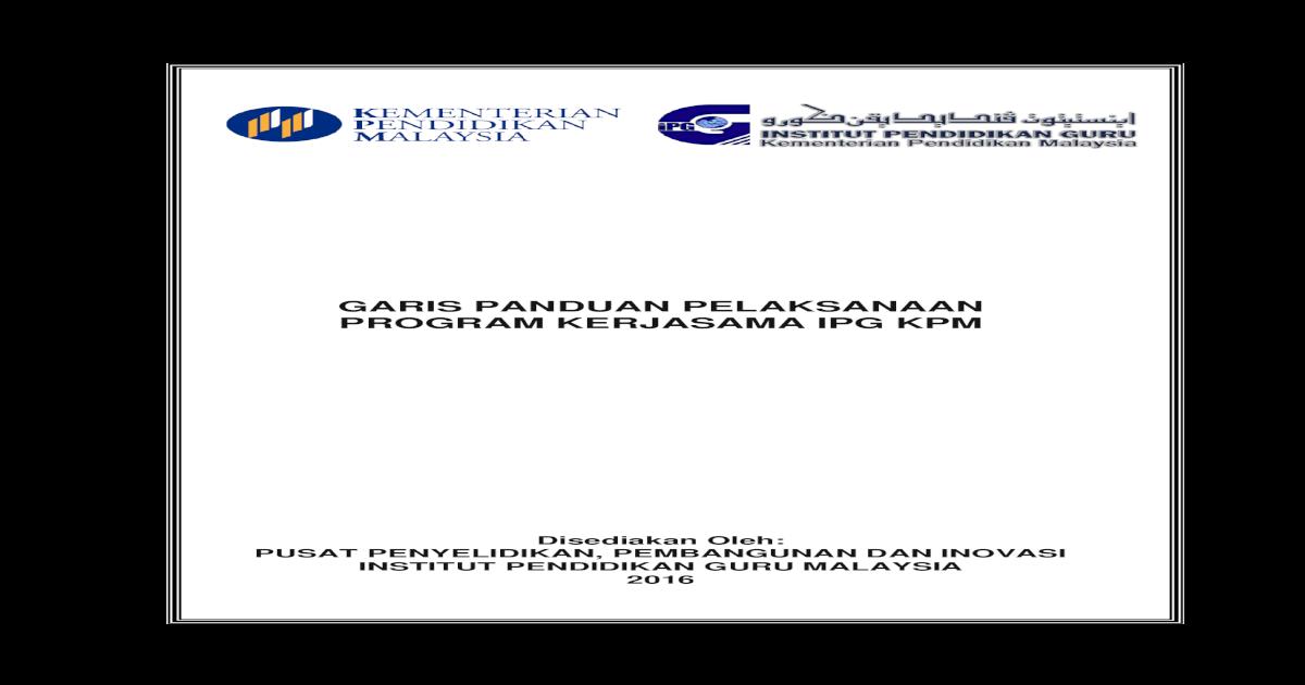 Garis Panduan Pelaksanaan Program Kerja Program Kerjasama Ipg Kpm 7 Bengkel Serta Mesyuarat Yang Melibatkan Peserta Luar Resume Penceramah V Atur Cara Program Pdf Document