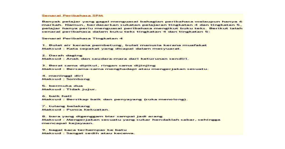 Senarai Peribahasa 1 Pdf Document