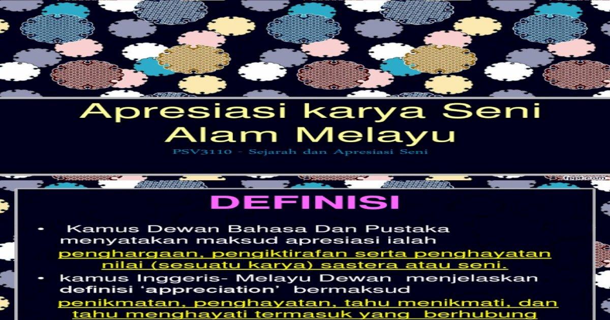 Apresiasi Seni Lam Melayu Pdf Document