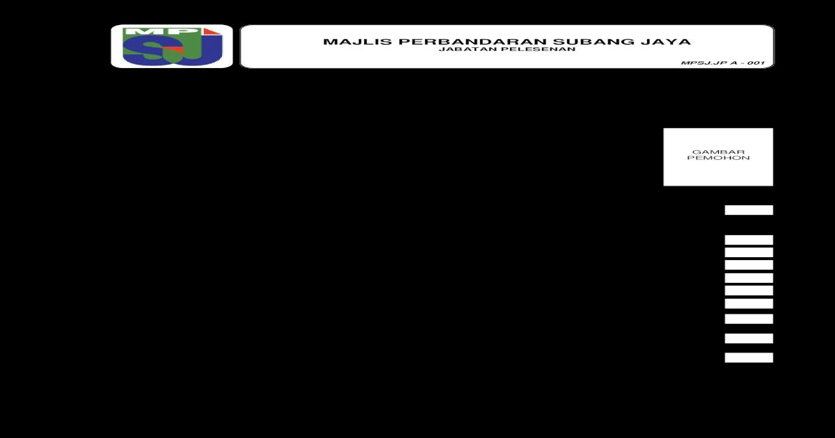 Borang Lesen Perniagaan Dan Iklan Download Pdf