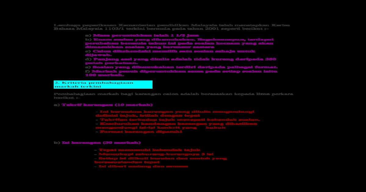 Contoh Karangan Doc Document