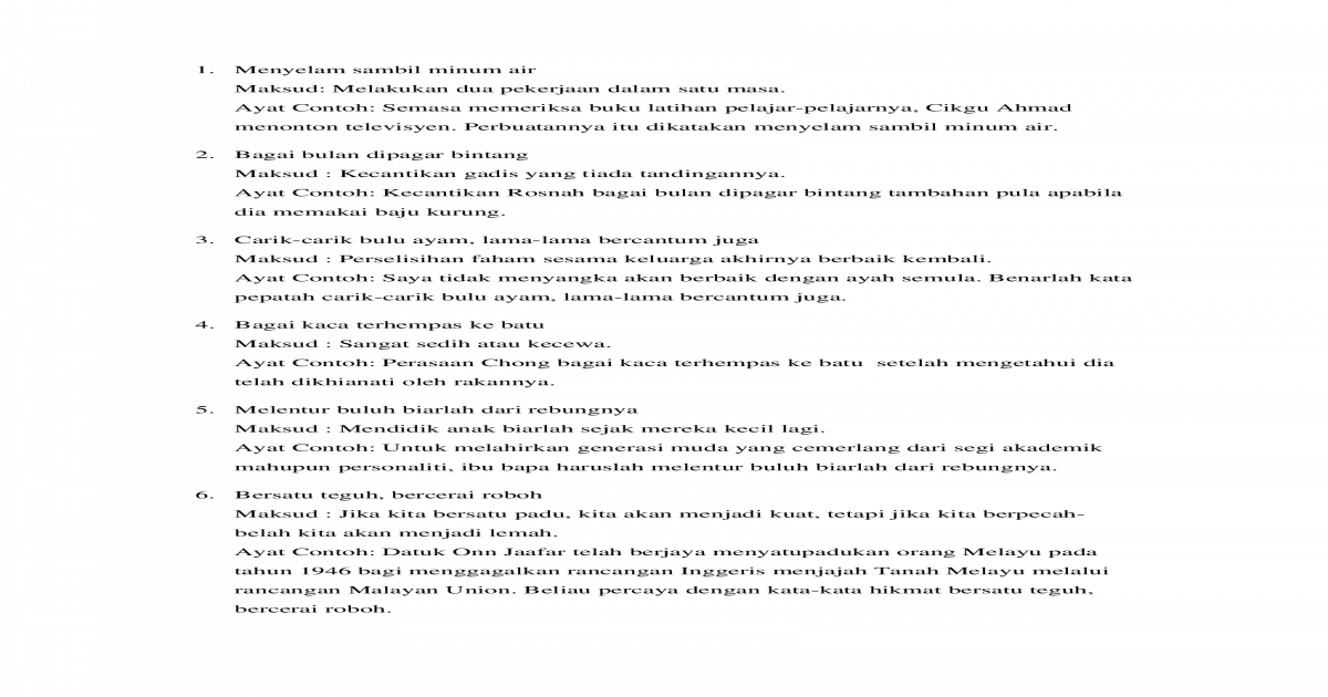 Peribahasa Docx Document