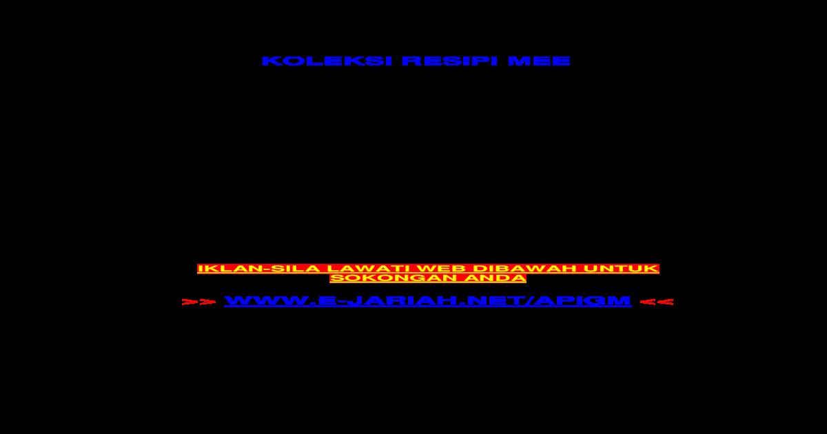 9485597 Koleksi Resepi Mee Pdf Document