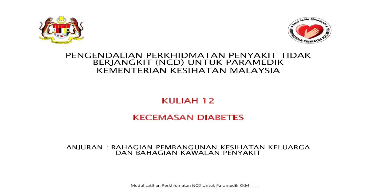 statistik diabetes kementerian kesihatan malasia