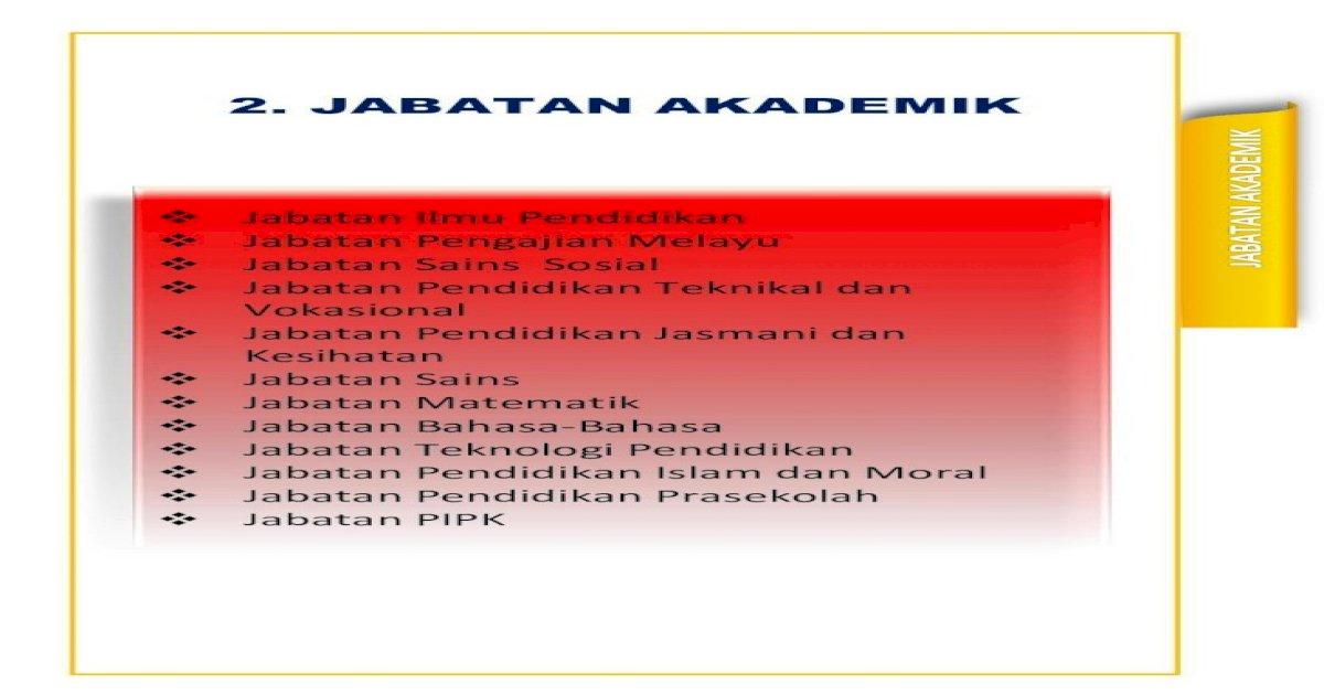 2 Jabatan Akademik Jabatan Akademik Pdfmelahirkan Guru Permulaan Yang Kompeten Dalam Bidang Pedagogi Pdf Document