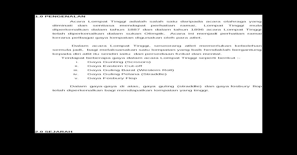 OLAHRAGA LOMPAT TINGGI - DOCX Document