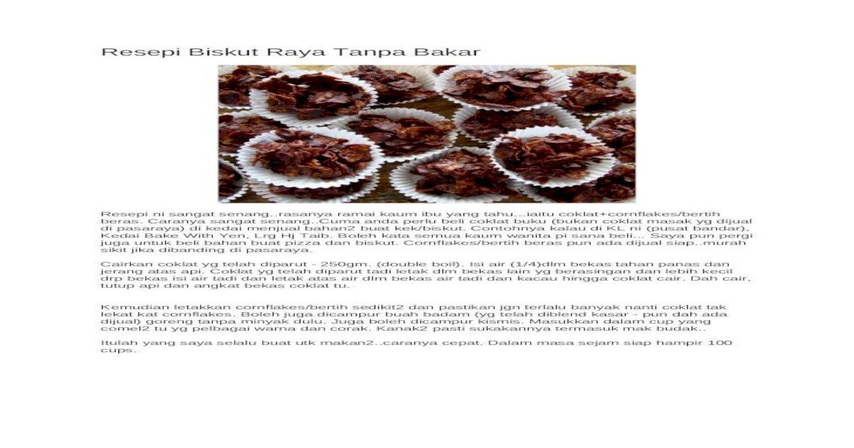 resepi biskut nestum  bakar  aneka resepi biskut raya  buat mulai hari Resepi Biskut Raya Tanpa Telur Enak dan Mudah